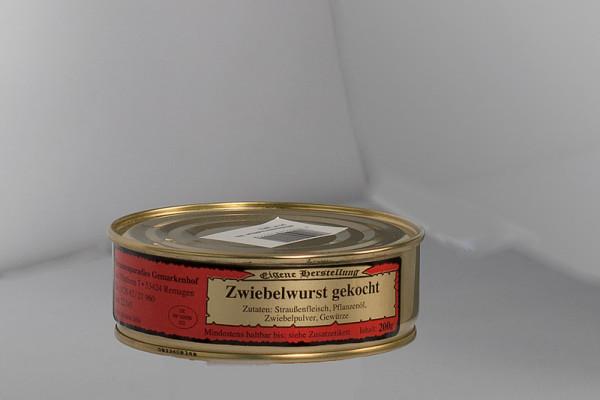 Zwiebelwurst gekocht aus Straußenfleisch 200g